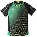 (ミズノ)MIZUNO バドミントンウェア ゲームシャツ[UNISEX] 72MA6004 35 グリーン L