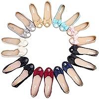 全9色 ペタンコ靴 パンプス 婦人靴 レディース 大きいサイズ 妊婦 バレエシューズ リボン 蝶結び付き 可愛い フラット 歩きやすい ドライビング 折りたたみ ローヒール