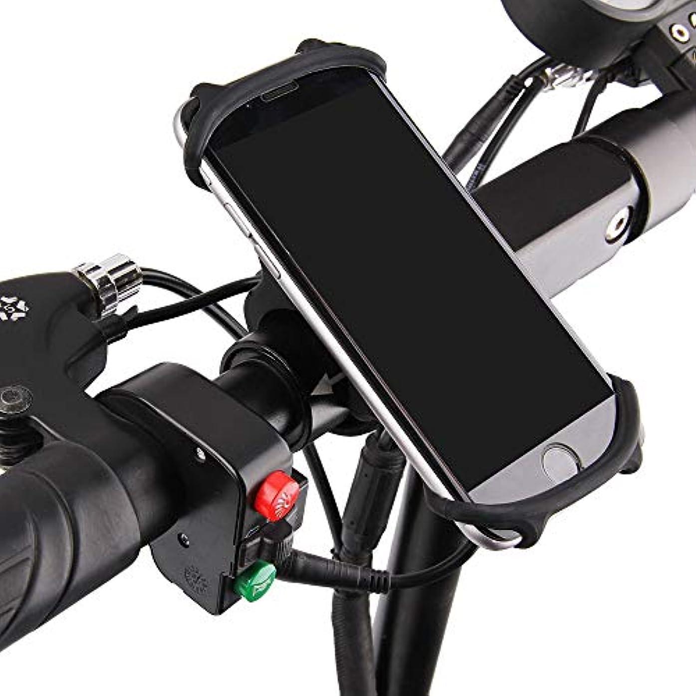 章本土亡命HANERDUN スマホホルダー 自転車ホルダー 自転車スマホホルダー 携帯 シリコン製 自転車 バイク用スタンド 多機種対応