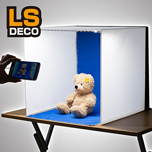 LS_deco ® 撮影ボックス (40cm, LEDライト付撮影ボックス[DECOボックス] 1灯タイプ)