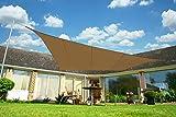 クッカバラ日除けシェード モカ色 2mx3m長方形, 紫外線98%カット 防水タイプ