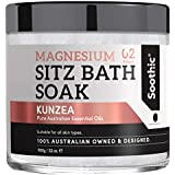SOOTHIC Sitz Bath Soak, Epsom Salt for Postpartum Care, Kunzea the New Witch Hazel, 32 oz - Mineral Soak Hemorrhoid Treatment for use with Soothics Yoni Steam Seat or Tub - Basin