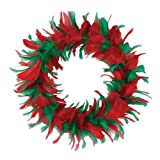 Beistle 57902-ggp Feather Wreath 8-Inch マルチカラー 57902-RG