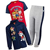 Nickelodeon Paw Patrol Boys 3-Piece Fleece Zip Jacket Jogger T-Shirt Set (Toddler/Little Kid)