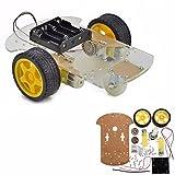 ロボットカー ロボット知能 INSMA キットエンコーダ 組み立て(透明板)Arduino DIY用 ロボットスマートカー シャーシキット スピードエンコーダ 付き