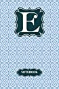 E Letter E Initial Monogram Notebook College Ruled Notebook With Blue Color Lined Notebook/Journal 120 Pages University Graduation gift: Black and white Stripes & Flowers, Floral Personal Letter K Monogram, Customized Initial Journal, Monogrammed Notebook