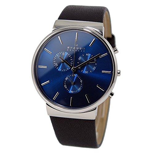 スカーゲン SKAGEN クオーツ クロノ メンズ 腕時計 SKW6105 ネイビー
