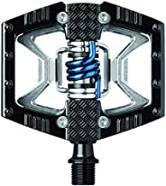Crank Brothers Double Shot Pedals, Black/Raw/Blue Spring [parallel import goods]