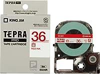 キングジム PROテープ 白ラベル 赤文字 SS36R 00046410 【まとめ買い3個セット】