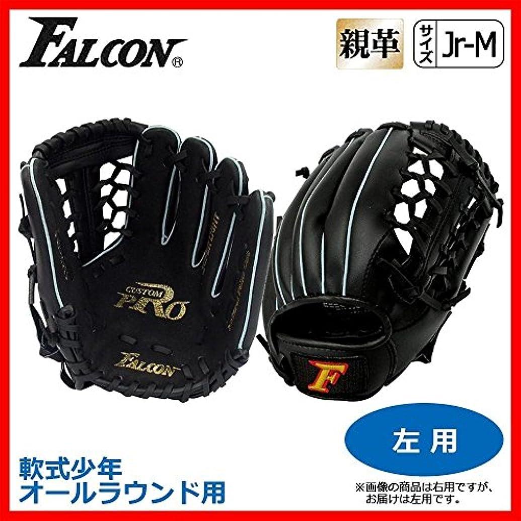 個性予報ピボットFALCON ファルコン 野球グラブ グローブ 軟式少年 オールラウンド用 Jr-Mサイズ ブラック 左用 FG-2355