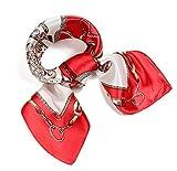 (ロージー)Rosy* 【シルク風 アンティーク調 スカーフ】お洒落 正方形 ツイリー バッグ シュシュ ヘッドドレス ベルト ブレスレット 巻き方 アレンジ自由 トレンド rd