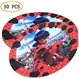 Party Nice Miraculous Ladybug パーティーサプライパック - 奇跡のテントウムシ 7インチ パーティープレート 30枚
