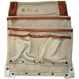 カクイ カドゴム最高級腰袋 デルマ皮仮枠袋 GD-3