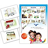 Location Flashcards in German Language - Flash Cards with Matching Bingo Game for Toddlers, Kids, Children and Adults - Size 4.13 × 5.83 in - DIN A6