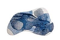 グルンドエクスクルーシブデザイナーバスマットKARIM RASHID、ウルトラソフトと吸収性、滑り止め、KARIM 27、90x150 cm、ブルー