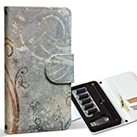 スマコレ ploom TECH プルームテック 専用 レザーケース 手帳型 タバコ ケース カバー 合皮 ケース カバー 収納 プルームケース デザイン 革 フラワー 花 シック モダン 004944