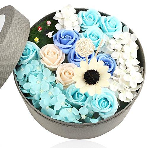 花 フレグランス ソープフラワー ラウンドボックス タイプ 窓付き 丸型 ギフト ボックス リードデ...