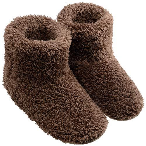 TWONE(トォネ) ルームシューズ 北欧 あったか もこもこルームブーツ 防寒 柔らかい 靴 冬 冷え性 冷え対策 可愛い ポカポカ 室内履き用スリッパ メンズ レディース 洗える 静音 L(24.5~26.5CM)サイズ