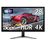 Acerゲーミングモニター KG281KAbmiipx 28インチ/TN/非光沢/3840x2160/4K/60Hz/330cd/1ms/Free-Sync/HDMI・DisplayPort