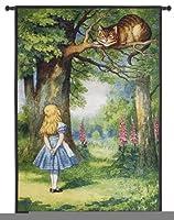 """Fineアートタペストリー""""アリスとチシャ猫""""壁タペストリー"""