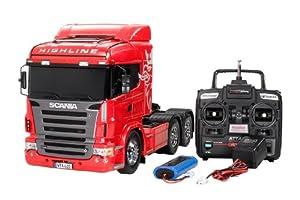 タミヤ 1/14 電動RCビッグトラックシリーズ No.22 スカニア R620 6×4 ハイライン フルオペレーションセット (4チャンネルプロポ、バッテリー、充電器付き) ラジコン 56322