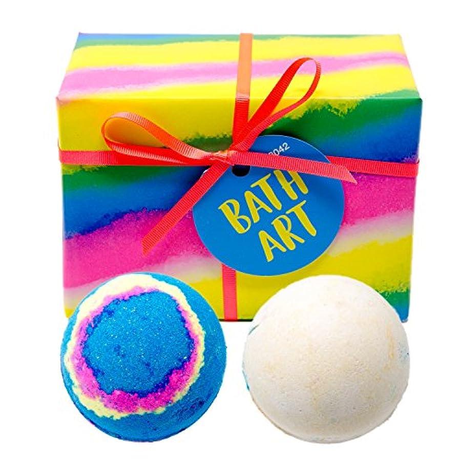 懲らしめ最後に惑星(ラッシュ) LUSH Bath Art バスアート ギフトセット ショップバッグ付き