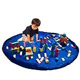 プレイマット レゴ レゴマット おもちゃ おままごと ビーズ お片付け/簡単/収納/軽量/耐水/大型/150cm (ブルー) DOG CAMPER