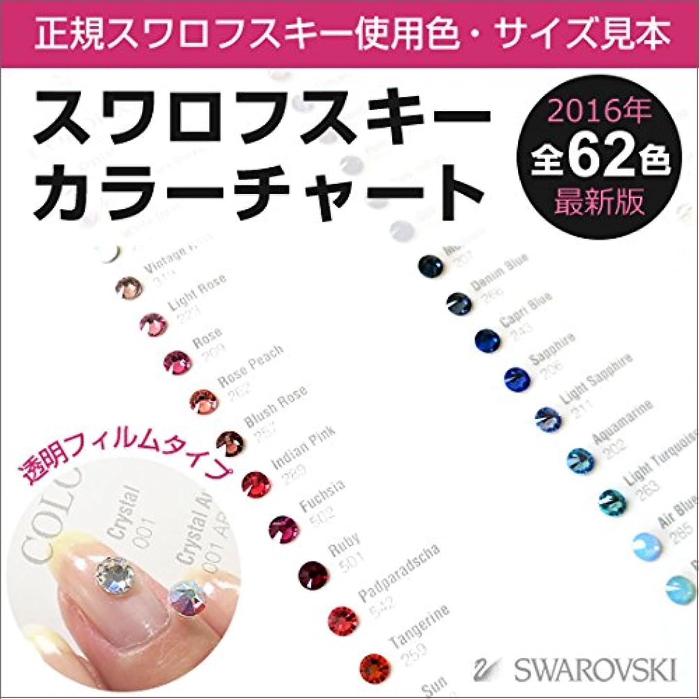 【全62色】スワロフスキー カラーチャート(色&サイズ見本) 透明フィルムタイプ