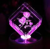 【ANION】光るバラ クリスタルオルゴール 18種類音楽 USB ホタル ミュージックランプスタンド ぜんまい 付き 回転できる シングルサイクル 誕生日  結婚記念日 結婚祝い 卒業祝い プレゼント 女性 プレゼント  クリスタルフラワー