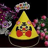 HuaQingPiJu-JP 子供の誕生日パーティーの装飾かわいい動物の虎のパターンハット_イエロー