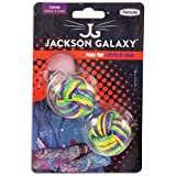 Jackson Galaxy Puma Paw Ball W/Catnip 2pk, Assorted Colours
