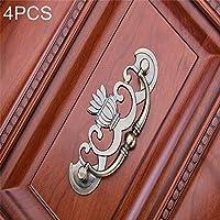 シンプルライフ、ライフアシスタント 4 PCSの青銅亜鉛合金のワードローブの薬のキャビネットの家具の引出しのハンドル、サイズ:特大-91g(青銅)、引出しのキャビネットの家具および家のドアおよび窓のために適した。 (色 : ブロンズ)