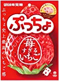 UHA味覚糖 ぷっちょ袋 いちごすぎるいちご 83g ×6袋