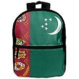 子供の学校バックパックの国旗トルクメニスタン美しいKids旅行バックパック学生バックパックボーイズBookバッグファスナー