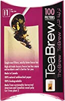 Tea Brew No. 1 100-Piece Single Use Tea Filter, 1-Cup Size by Brew To A Tea