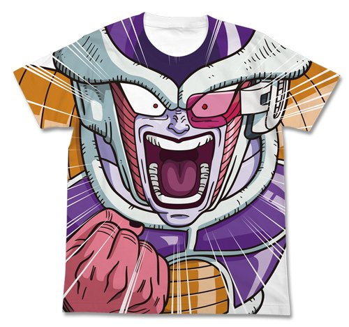 ドラゴンボール改 フリーザ フルグラフィックTシャツ ホワイト サイズ:L
