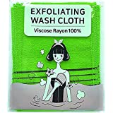 BelleJiu Korean Exfoliating Bath Washcloth Set of 5, Back and Body Exfoliation for Removing Dry, Dead Skin Cells, Cleaning Po