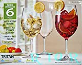 TRITAN ボルドー赤ワイン 合成樹脂グラス 6脚セット ガラスじゃないから軽量・割れにくい