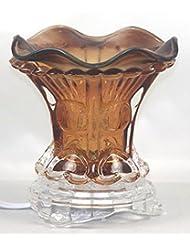 ブラウン( es259brn ) ElectricガラスフレグランスScented Oil Warmer ( Burner / Warmer /ランプ) withディマースイッチ