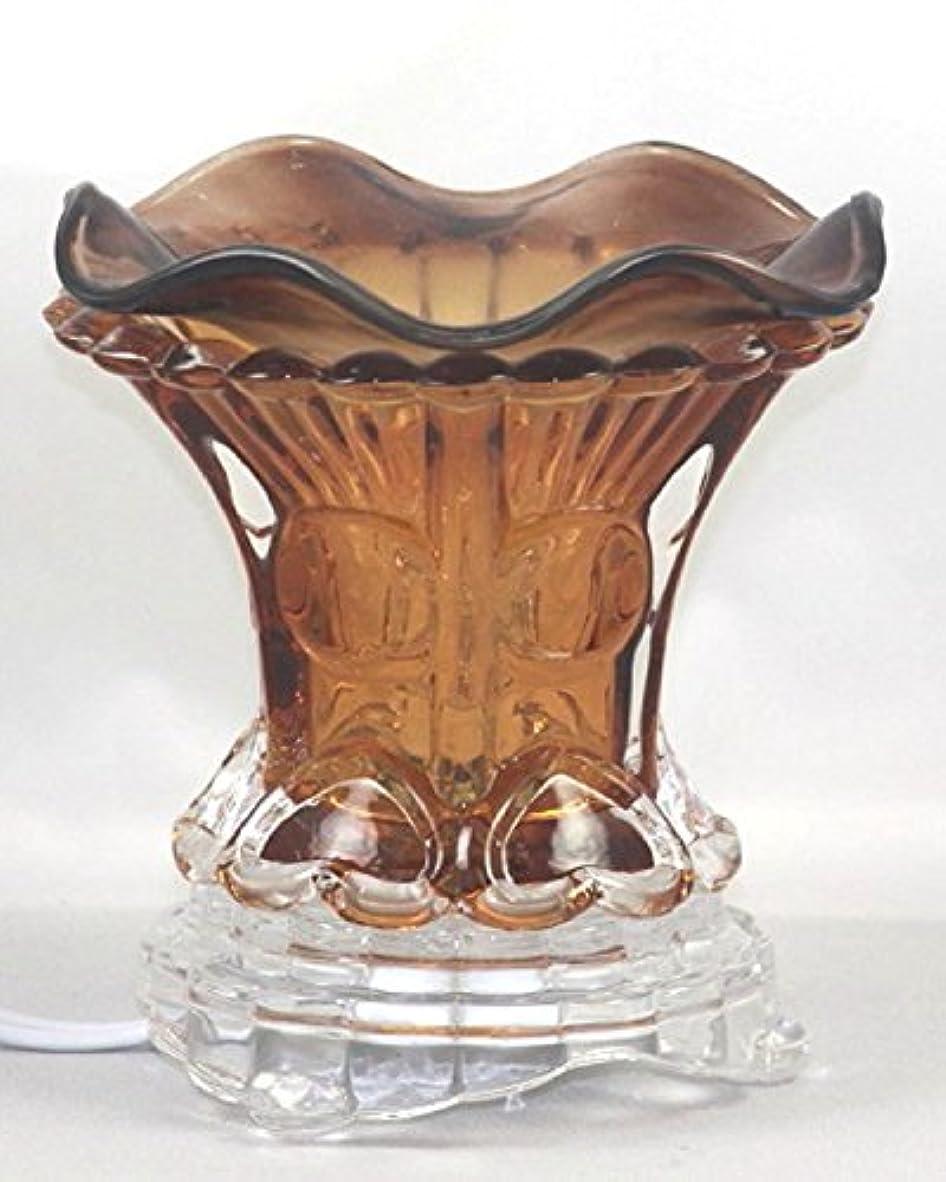 無しペチュランス囚人ブラウン( es259brn ) ElectricガラスフレグランスScented Oil Warmer ( Burner / Warmer /ランプ) withディマースイッチ