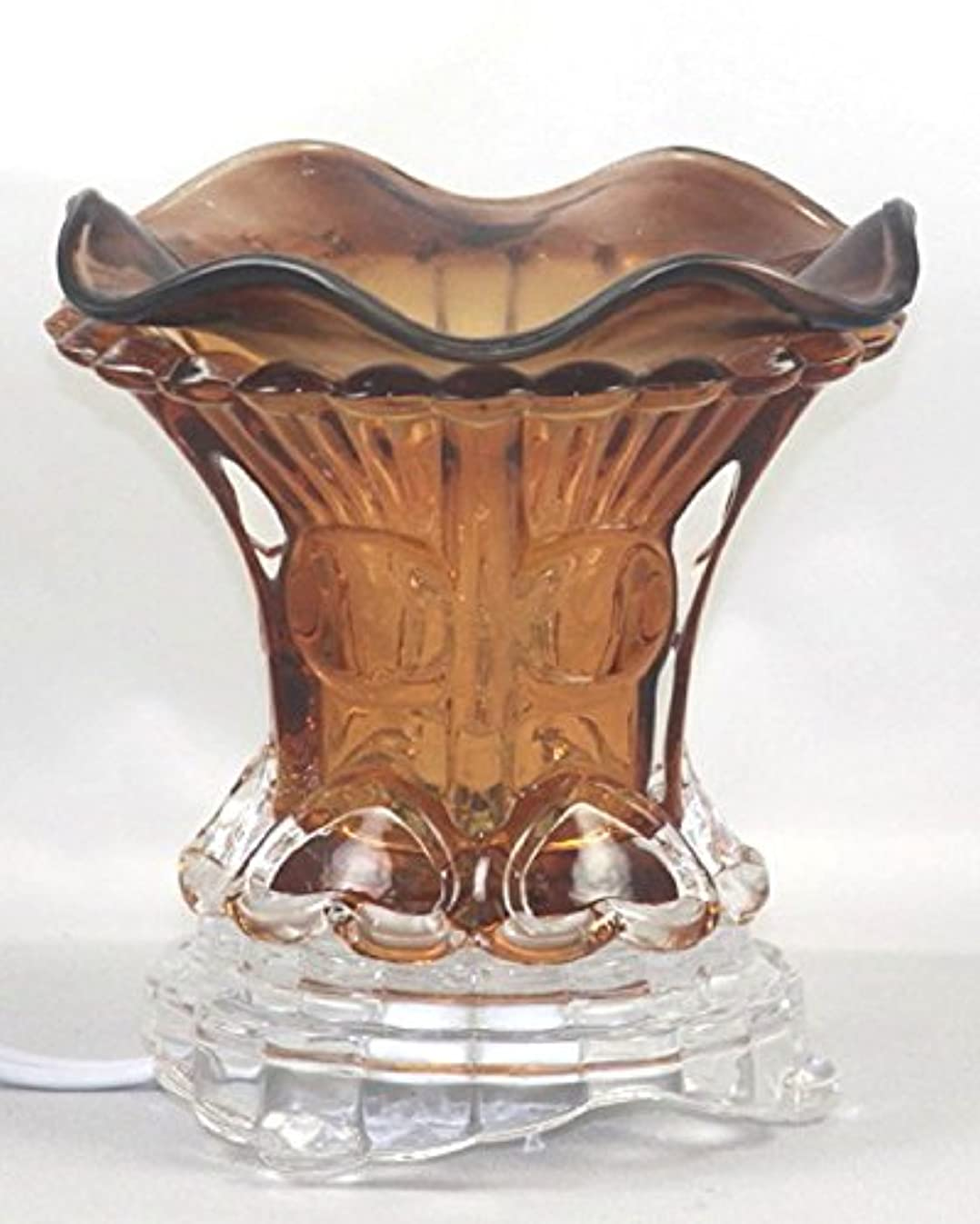 熟読するデッドクラブブラウン( es259brn ) ElectricガラスフレグランスScented Oil Warmer ( Burner / Warmer /ランプ) withディマースイッチ