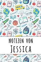 Notizen von Jessica: Liniertes Notizbuch fuer deinen personalisierten Vornamen