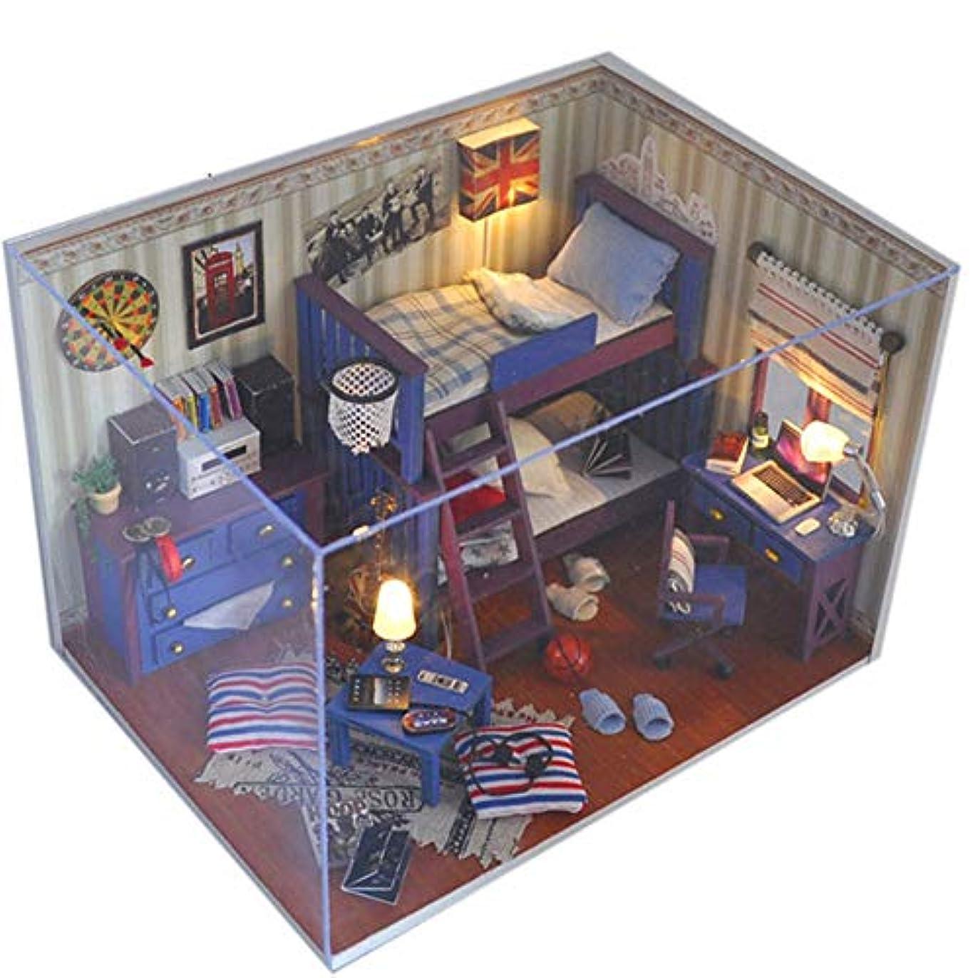高める摂氏バブルドールハウス DiyのドールハウスDiyのドールハウスミニ手作りキット用女の子キャビンおとぎ話家の装飾家ドルミニチュアキットブルー手動労働組み立てられた建物モデルおもちゃクリエイティブ誕生日木製 最えベストの装飾です