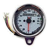 (ディフレコ) Difreco 汎用 レトロ な バイク 速度 計 交換 用 カスタム LED バック ライト ミニ スピード & タコ メーター(レトロ5)