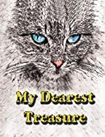 My Dearest Treasure: I Love Cat, Cute Photo Album for Cat (Photo Album 100 Pages, 8.5 x 11)