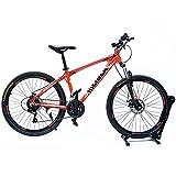 GOWAY(ゴーウェイ)マウンテンバイク 自転車 26インチ 軽量アルミフレーム シマノ純正21段変速 Wディスクブレーキ (オレンジ)
