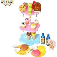 アイスクリームショップ アイスクリームセット アイスクリームタワー 子供能力を育てる知育玩具 お誕生日 クリスマスプレゼント ごっこ プラスチック製