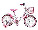 GRAPHIS(グラフィス) 補助輪付き子供用自転車 16インチ リボンカラー GR-16R ホワイト×ピンク