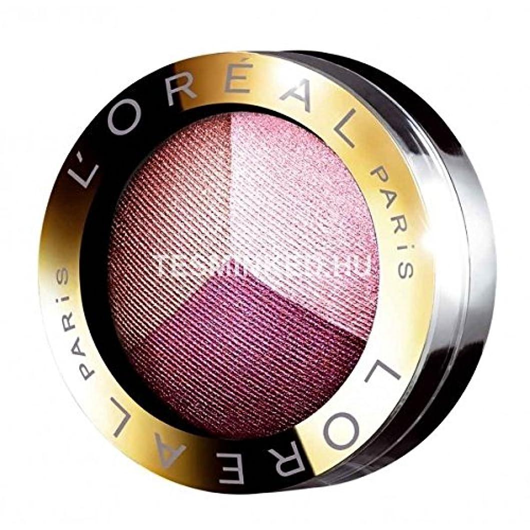 回転するリーク腹部Eyeshadow Color Appeal Trio Pro L'Oréal No. 402 Addictive Plum
