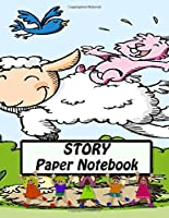 Story Paper Notebook: Composition Draw and Write Lines Primary Handwriting Journal For Kindergarten - 3 Grade Half Lined & Dotted and Half Drawing Space 8.5x 11 | Happy Spring Print